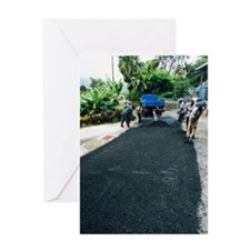 Road construction Greeting Card