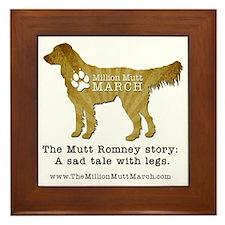 Brown Irish Setter with Million Mutt M Framed Tile