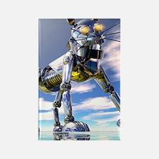 Robot cat Rectangle Magnet