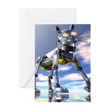 Robot cat Greeting Card