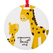 Mother and child Giraffe Ornament