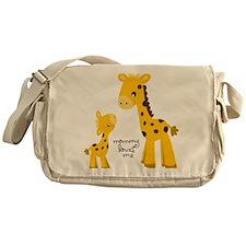 Mother and child Giraffe Messenger Bag