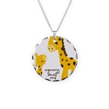 Mother and child Giraffe Necklace