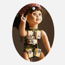 Robot baby doll Oval Ornament