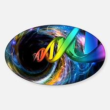 Double helix entering blackhole Decal