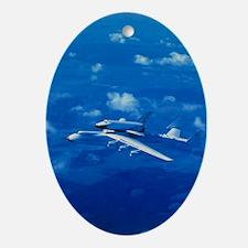 Russian shuttle Buran Oval Ornament
