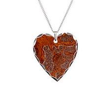 Rust seen on a steel sheet Necklace