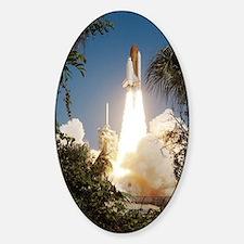 Return to Flight shuttle launch Sticker (Oval)