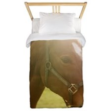 A horse photographed against the light. Twin Duvet