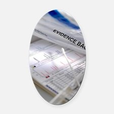 DNA sample and results Oval Car Magnet