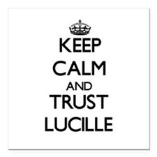 """Keep Calm and trust Lucille Square Car Magnet 3"""" x"""