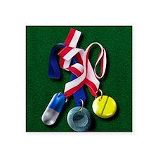 "Drugs in sport Square Sticker 3"" x 3"""
