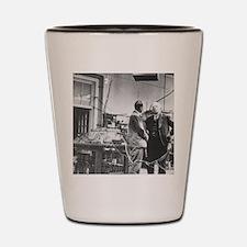 E. Rutherford in the Cavendish Laborato Shot Glass