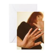 Domestic violence Greeting Card