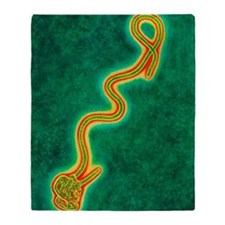 Ebola virus Throw Blanket