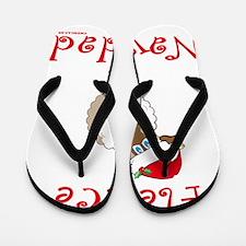 FleeceNavidadLightFinalTRANS-c Flip Flops