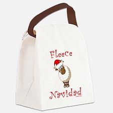 FleeceNavidadLightFinalTRANS-c Canvas Lunch Bag