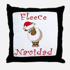 FleeceNavidadLightFinalTRANS-c Throw Pillow