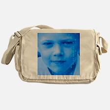 DNA over a boy's face Messenger Bag