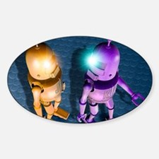 Robots Sticker (Oval)