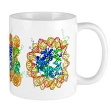 DNA nucleosome, molecular model Mug
