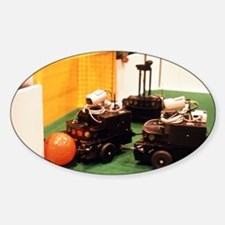Robots trying to score a goal at Ro Decal