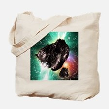 Rocket-controlled asteroids Tote Bag