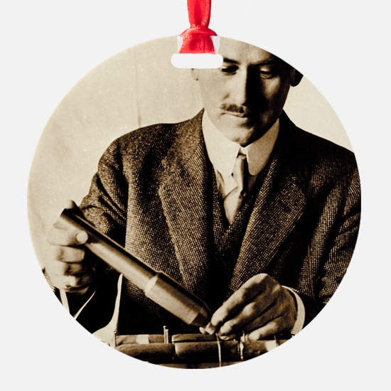 Rocket pioneer, Robert H. Goddard Ornament