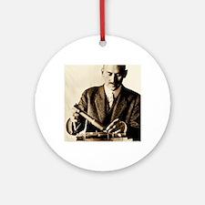 Rocket pioneer, Robert H. Goddard Round Ornament