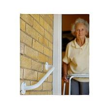 Elderly woman Throw Blanket