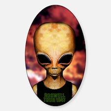 Roswell alien Sticker (Oval)