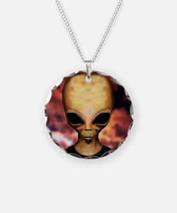 Roswell alien Necklace Circle Charm