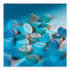 "Ecstasy pills Square Car Magnet 3"" x 3"""