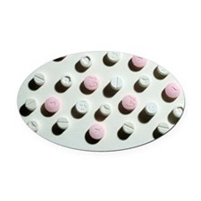 Ecstasy tablets Oval Car Magnet
