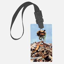 Scrap metal Luggage Tag