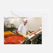 Salmon roe factory Greeting Card