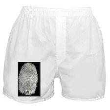 Enlarged fingerprint Boxer Shorts