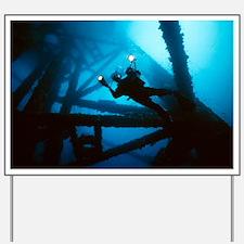 Scuba diver Yard Sign