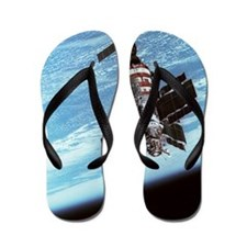 Salyut 7 space station in orbit Flip Flops
