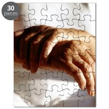 Elderly woman with osteoarthritis Puzzle
