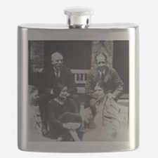 E. Rutherford together with Niels Bohr Flask