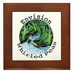 Envision Whirled Peas Framed Tile