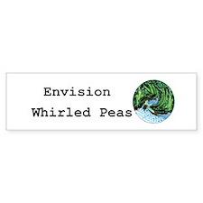 Envision Whirled Peas Bumper Bumper Sticker