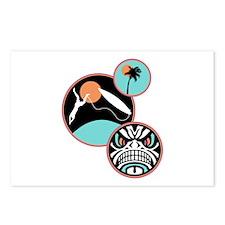 Hawaiian Tribal Surf Design Postcards (Package of