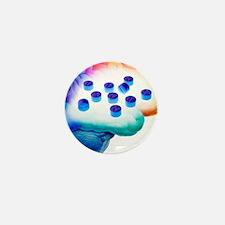Ecstasy use, artwork Mini Button