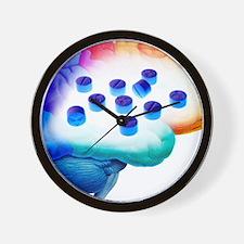 Ecstasy use, artwork Wall Clock