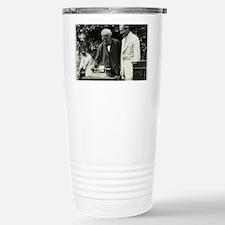 Edison and his phonograph Travel Mug