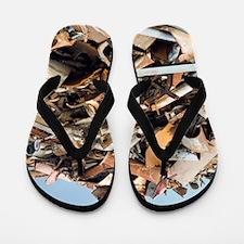 Scrap metal Flip Flops