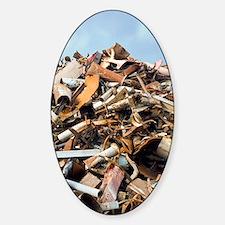 Scrap metal Sticker (Oval)
