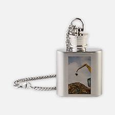 Scrap metal yard Flask Necklace